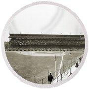 Baseball Game, C1912 Round Beach Towel