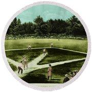 Baseball In 1846 Round Beach Towel