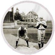 Baseball: Princeton, 1901 Round Beach Towel
