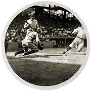 Baseball: Washington, 1925 Round Beach Towel