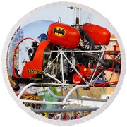 Batcopter Round Beach Towel