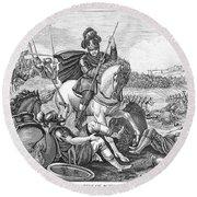 Battle Of Agincourt, 1415 Round Beach Towel