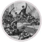 Battle Of Chapultepec, 1847 Round Beach Towel