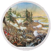 Battle Of Chattanooga 1863 Round Beach Towel