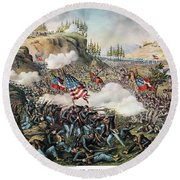 Battle Of Chickamauga 1863 Round Beach Towel