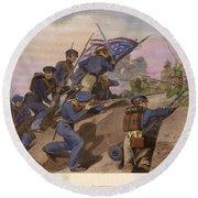 Battle Of Churubusco, 1847 Round Beach Towel