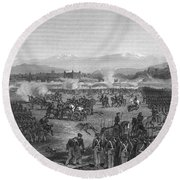 Battle Of Molino Del Rey Round Beach Towel