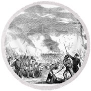 Battle Of Quarisma, 1857 Round Beach Towel