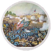 Battle Of Williamsburg Round Beach Towel