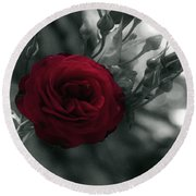 Red Rose Beauty Round Beach Towel