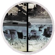 Before And After Hurricane Eloise 1975 Round Beach Towel