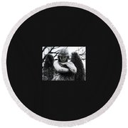 Bellefontaine Angel Round Beach Towel by Jane Linders