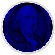 Ben Franklin In Blue Round Beach Towel