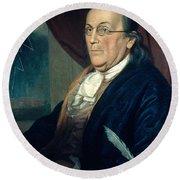 Benjamin Franklin, American Polymath Round Beach Towel