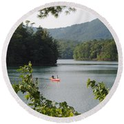 Big Canoe Round Beach Towel