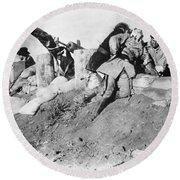 Birth Of A Nation, 1915 Round Beach Towel