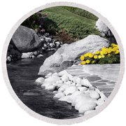 Bishop Creekside Round Beach Towel