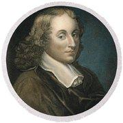 Blaise Pascal (1623-1662) Round Beach Towel