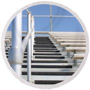 Bleachers Round Beach Towel