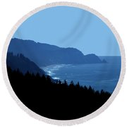 Blue Ocean Vista Round Beach Towel