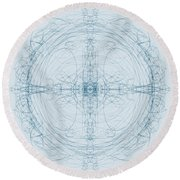Blueprint Round Beach Towel