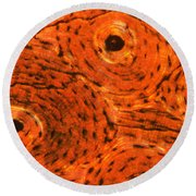 Bone Tissue Round Beach Towel