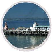 Bournemouth Pier Round Beach Towel