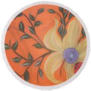 Branching Out Round Beach Towel