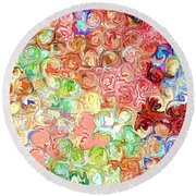 Bright Reflections Round Beach Towel
