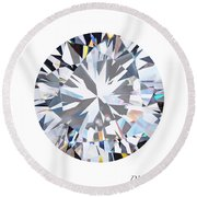 Brilliant Diamond Round Beach Towel by Setsiri Silapasuwanchai