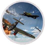 British Hawker Hurricane Aircraft Round Beach Towel