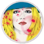 Britney Spears Round Beach Towel