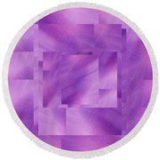 Brushed Purple Violet 3 Round Beach Towel