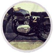 Bsa Motorbike Round Beach Towel