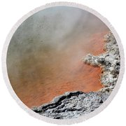 Bubbles Rising In Champagne Pool Hot Round Beach Towel