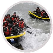 Buds Participate In Rock Portage Round Beach Towel