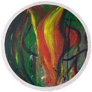 Butterfly Caught Round Beach Towel