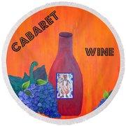 Cabaret Wine Round Beach Towel