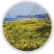 California Wildflowers Round Beach Towel