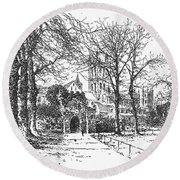 Canterbury Cathedral Round Beach Towel