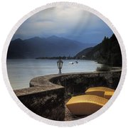 Canvas Chairs Round Beach Towel by Joana Kruse