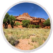 Capitol Reef Castle Round Beach Towel
