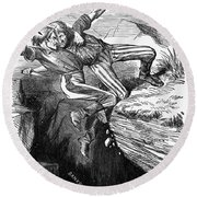 Cartoon: Civil War, 1862 Round Beach Towel