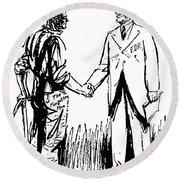 Cartoon: Fdr & Workingmen Round Beach Towel