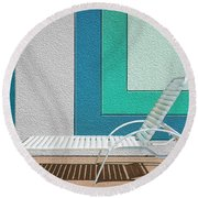 Chaising Round Beach Towel by Paul Wear