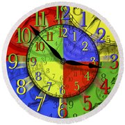 Changing Times Round Beach Towel