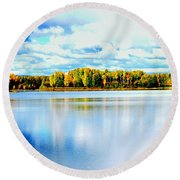 Chena Lakes Round Beach Towel