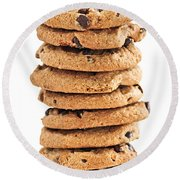 Chocolate Chip Cookies Round Beach Towel