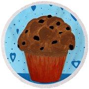 Chocolate Chip Cupcake Round Beach Towel