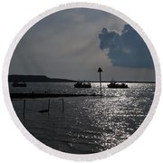 Christchurch Harbour Viewed From Mudeford Round Beach Towel